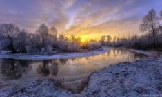 Winter sunrise on a small river. by alekseimalygin Sunrise, Country Roads, Explore, Places, Outdoor, Asian Dating, Rivers, Boobs, Naked