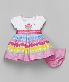 This Gerson & Gerson Fuchsia 'Birthday Princess' Cupcake Dress - Infant & Toddler by Gerson & Gerson is perfect! #zulilyfinds