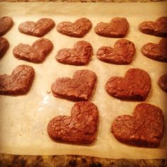 double chocolate heart-shaped cookies