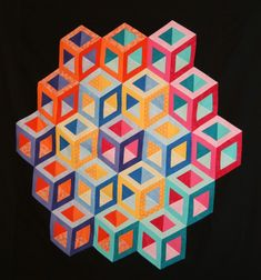 A New Hollow Cube Quilting Design