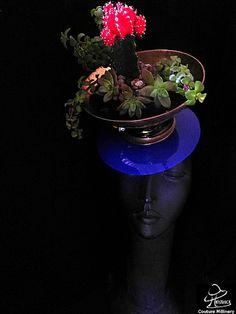 Hatstruck:  Desert Flower by LEE DUNCAN #millinery #HatAcademy #hats