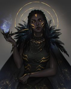 Black Characters, Dnd Characters, Fantasy Characters, Female Characters, Dark Fantasy Art, Fantasy Girl, Fantasy Artwork, Fantasy Portraits, Fantasy Drawings