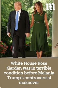 The White House Rose Garden was in terrible shape before Melania Trump's much-maligned makeover, insiders have revealed. First Lady Speech, Media Bias, First Lady Melania Trump, Rose Bush, Garden, House, Shape, Fashion, Moda