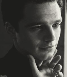 #sebastian stan..... Who the hell is touching him like that? I will CUT you! Lol