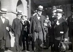 William Jennings Bryan at the Southern Pacific Depot at 3rd and Townsend in San Francisco. Bryan was in town for the 1920 Democratic Convention.