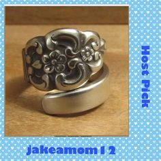 Stainless Steel spoon ring Beautiful spoon ring with floral design. Handmade using vintage flatware Handmade Vintage Jewelry Rings
