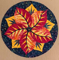 Poinsettia, Quiltworx,com, Made by CI Kelly Grant Patchwork Patterns, Quilt Patterns, Braid Quilt, Table Topper Patterns, Foundation Paper Piecing, English Paper Piecing, Square Quilt, Poinsettia, Quilt Making