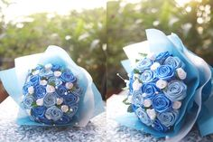 ribbon rose hand bouquet