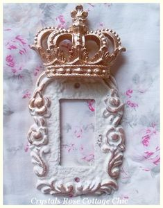 Victorian Rose Crown Single Rocker Wall Plate...Color Choices