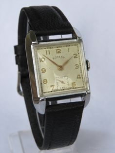 Vintage Watches Collection : Antiques Atlas - A Gents Rotary Art Deco Wrist Watch. - Watches Topia - Watches: Best Lists, Trends & the Latest Styles Antique Watches, Vintage Watches For Men, Art Deco Watch, Florida Style, Original Vintage, Watch Companies, Retro, Luxury Watches, Mens Fashion