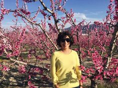 Hola primavera te estaba esperando.      #spain #vsco #murcia #女の子 #fashion #ファッション #girl #cacheada #ootd #cachos #look #curlyhair #curlyhairdontcare #pink #outfit #me #curls #lotd #happy #curly #ihavethisthingwithpink #flowers #blooms #almond #cieza #murciaquehermosaeres