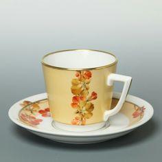 Chocolate Cups, Chocolate Coffee, Tea Cup Saucer, Tea Cups, Yellow Cups, Porcelain Ceramics, Teapots, Bone China, Tea Time