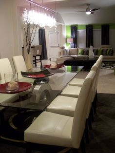Modern Dining Room designed by Serena Monjeau Walkes featured on Rate My Space
