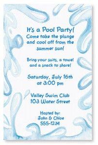 Pool party free online invitations birthday party invitations quick easy printable pool party invitations paperdirect blog stopboris Gallery