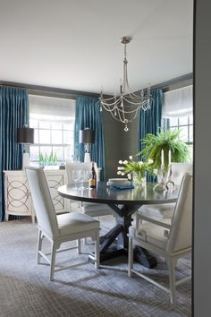 28 Best Of Gray and White Dining Room - Dining Room Design Ideas Dining Room Curtains, Dining Room Paint, Dining Room Blue, Living Room Grey, Dining Room Design, Dining Room Chairs, Dining Rooms, Bedroom Curtains, Dining Table