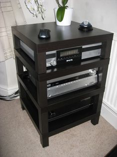 Awesome home built hifi rack made of ikea lack coffee - Mobile hi fi ikea ...