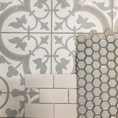 CHEVERNY BLANC ENCAUSTIC CEMENT WALL AND FLOOR TILE - 8 X 8 IN $ 15.99 Sq Ft Coverage 5.40 Sq Ft Per Box HEX GLOSS MOSS 1 IN. $ 8.99 Sq Ft Coverage 33.57 Sq Ft Per Box IMPERIAL BIANCO MATTE CERAMIC SUBWAY TILE - 3 X 6 IN. $ 6.99 Sq Ft Coverage 10.44 Sq Ft Per Box