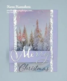 Stampin' Up! Feels Like Frost Merry Christmas for Fun Fold Friday Merry Christmas To All, Christmas Makes, Homemade Christmas Cards, Stampin Up Christmas, Homemade Cards, Christmas 2019, Christmas Tag, Christmas Projects, Christmas Stuff