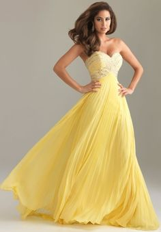 yellow formal dress, though maybe another color for me...the dress itself is lovely