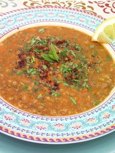 Turkish Red Lentil Soup with Mint & Sumac