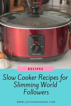 Looking for Slimming World slow cooker recipes? Here are the BEST Tasty Slimming World Slow cooker recipes for you to make for the family. Slow Cooker Slimming World, Slimming World Recipes Syn Free, Slimming World Diet, Slimming World Sweets, Slimming Eats, Slimming World Dinners, Slimming World Breakfast, Slimming World Chicken Recipes, Slow Cooker Recipes Family