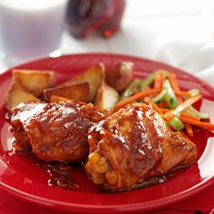 Favorite Cola  Chicken.  1 can (12 ounces) diet cola  1/2 cup ketchup  2 to 4 tablespoons finely chopped onion  1/4 teaspoon dried oregano  1/4 teaspoon garlic powder  8 bone-in chicken thighs, skin removed