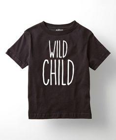 Look at this #zulilyfind! Black 'Wild Child' Tee - Toddler & Kids by LC Trendz #zulilyfinds