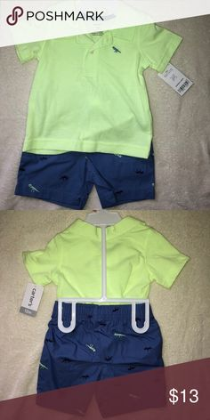**New with tags** Carter's Baby Boy Matching Set New with tags. Carter's Baby Boy Matching Short Set.  Polo style shirt and matching shorts. Sized 12months. Never worn. See size attached chart for sizing. Items are true to size Carter's Matching Sets