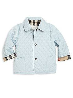 Burberry Baby's & Toddler's Colin Quilted Jacket - Ice Blue