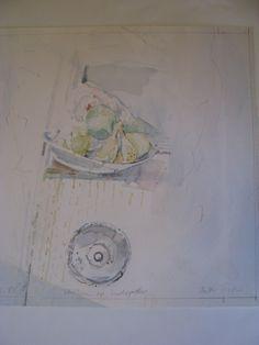 Art. Aquarel Stilleven VI-VII door Anton Vrede.