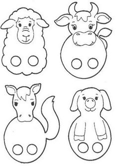 Farm animal finger puppets kiz read more about puppets for Paper finger puppets templates