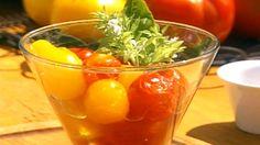 Tomates cerises marinées en bocaux - Recettes - À la di Stasio