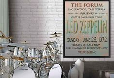 LED Zeppelin-Poster Jimmy Page klassische von PoolPartyPopArt