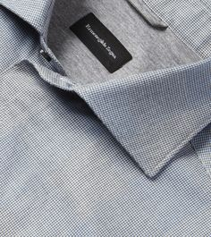 Enter the world of Ermenegildo Zegna and discover our menswear collections: suits, jackets, shoes and accessories for formal and casual occasions. Man Dress Design, Men Dress, Shirt Dress, Cute Love Images, Blue Grey, Gray, Party Wear, Casual Shirts, Menswear
