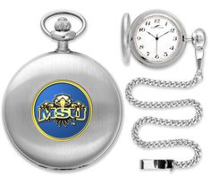 Mens Morehead State University Eagles - Pocket Watch - Silver