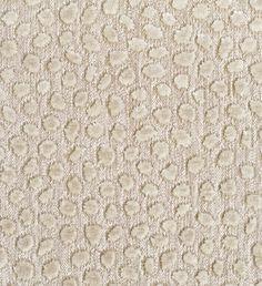 Cosma Upholstery Velvet A beige woven cloth with animal-like spots of silver velvet