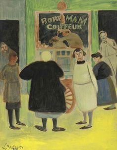 Léon Spilliaert (Belgian, 1881-1946), Coiffeur [Hairdresser], 1923.