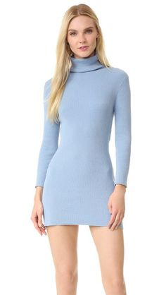 Baja East Turtleneck Sweater Dress - Cove | SHOPBOP saved by #ShoppingIS
