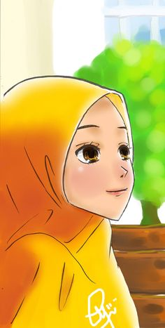 done in paint tool sai ( I have a problem with photoshop TTATT) tools: sai and Chinese brush ^^ CG Chibi Wallpaper, Bear Wallpaper, Muslim Pictures, Islamic Pictures, We Bare Bears Wallpapers, Cute Wallpapers, Hijab Drawing, Islamic Cartoon, Hijab Cartoon