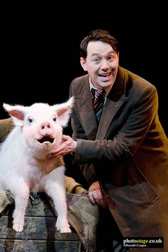 2011: Betty Blue Eyes with Reece Shearsmith as Gilbert Chilvers in BETTY BLUE EYES at the #Novello_Theatre London directed by #Richard_Eyre #George_Stiles #Anthony_Drew #Tim_Hatley #Neil_Austin #Stephen_Mear #musical_theatre_photos #musical_theatre_photography_photos #Photostage Inside No 9, Steve Pemberton, Reece Shearsmith, League Of Gentlemen, Blackadder, Betty Blue, Stiles, Musical Theatre, Photography Photos