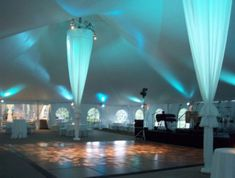 Check out this website. Does it venue allow for this? Even just two of these from ceiling to floor will wow!