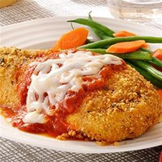 A great recipe for classic chicken Parmesan with a twist that will help you save time for a quick weeknight dinner.