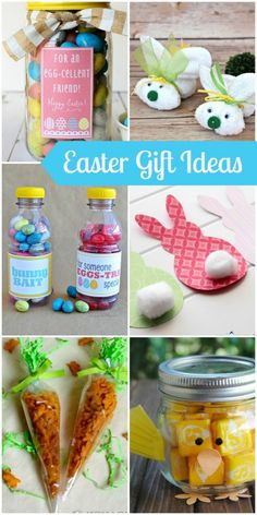 A collection of several quick and easy gifts for Easter