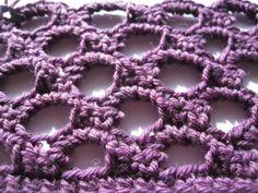 Crochet Honeycomb Stitch - Tutorial ❥ 4U / /hf