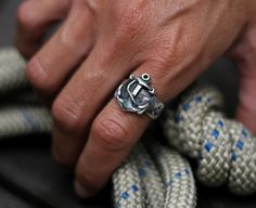 Nautical Anchor ring in Sterling Silver, FIRST MATE - men and women ring - wedding, engagement.. $169.00, via Etsy.