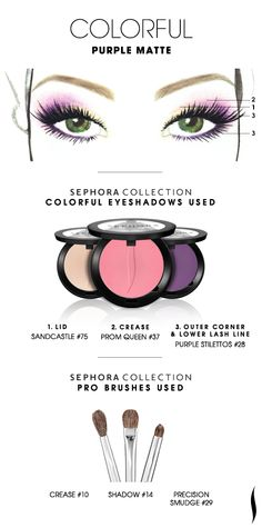 COLORFUL: Purple Matte HOW TO #sephoracollection #sephora #eyeshadow #makeup