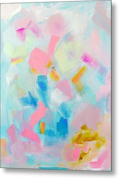 Abstract Metal Print featuring the painting Feels Like My Birthday by Jazmin Angeles
