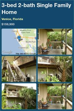 3-bed 2-bath Single Family Home in Venice, Florida ►$159,900 #PropertyForSale #RealEstate #Florida