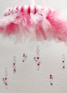 #DIY Tutu Tulle Baby Mobile and kid's chandelier
