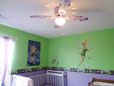 Magic Kingdom Castle With Tinkerbell Ideas For Lexi S Room Pinterest Castles And